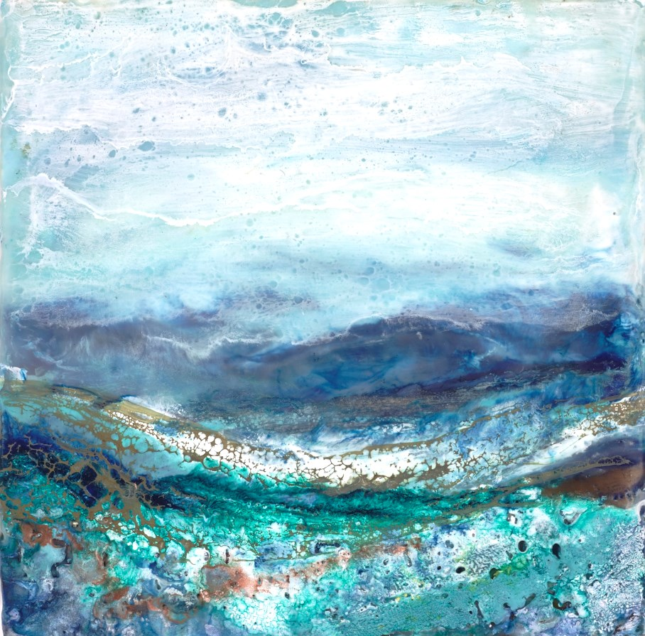 Seawater Delights by jennine parker -  sized 10x10 inches. Available from Whitewall Galleries